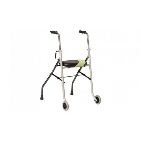 Andador tipo rolator de dos ruedas