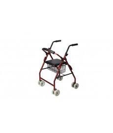 Andador tipo rolator de cuatro ruedas