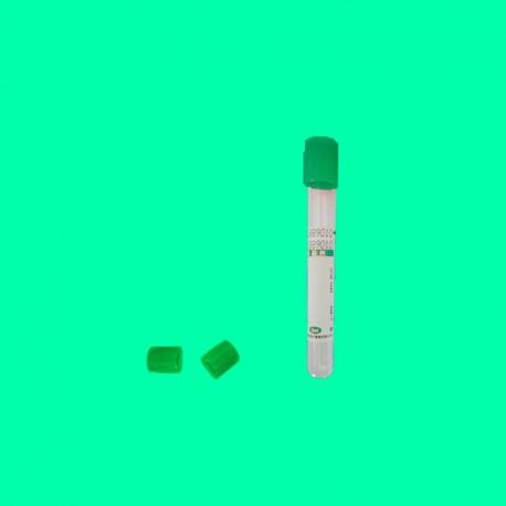 Tubo para extracción de muestra de sangre, tapón Verde