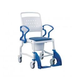 Silla de ruedas ergonómica para ducha con orinal